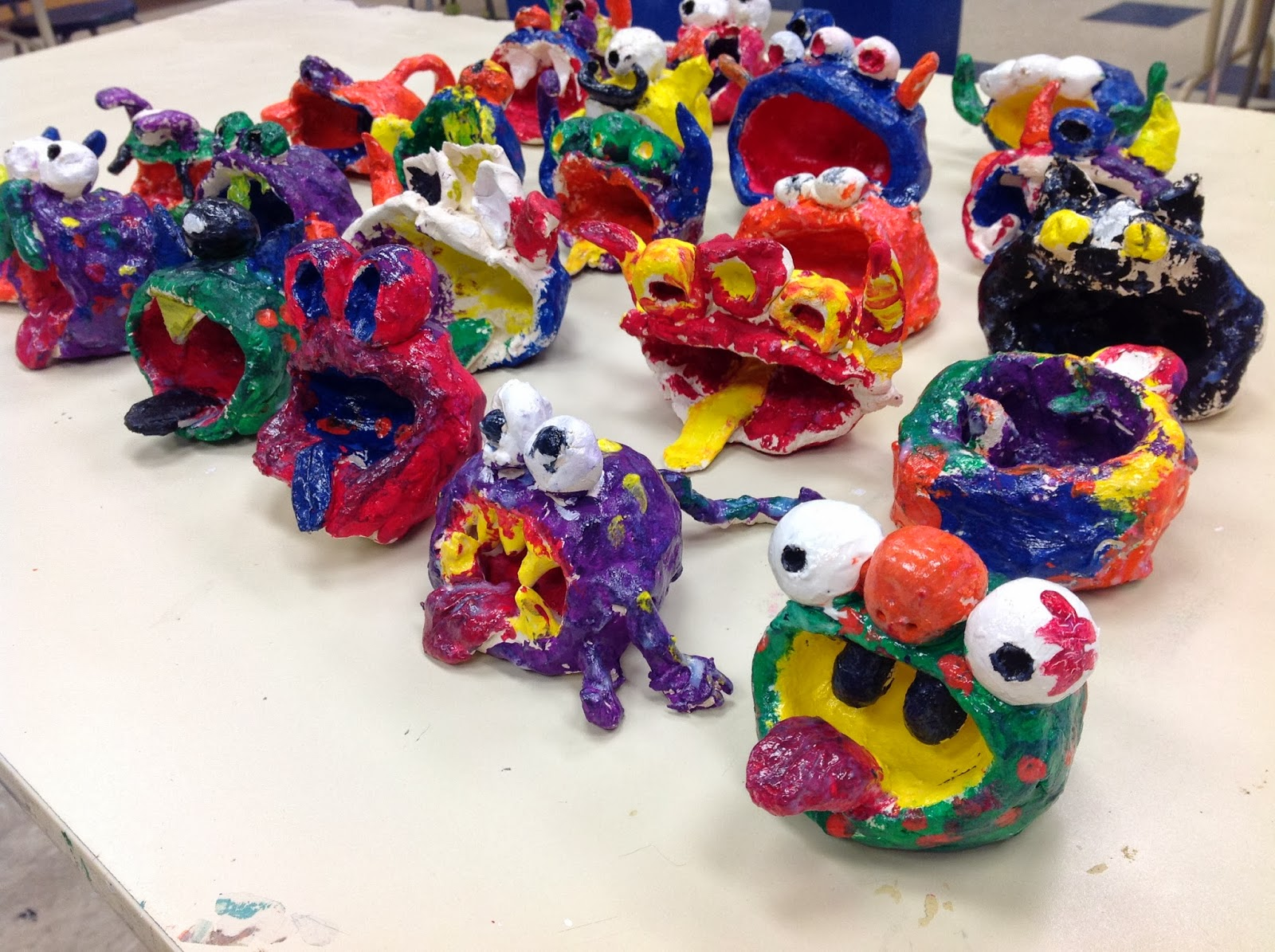 Pinch Pot Clay Monsters