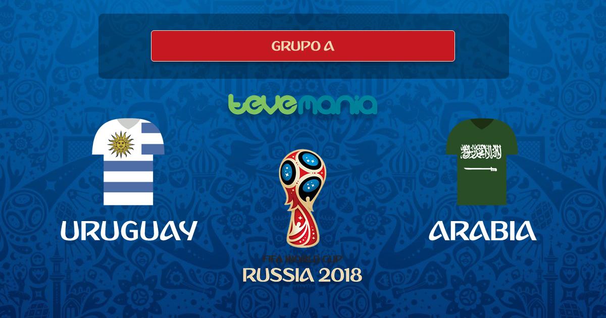 Uruguay clasifica a Octavos tras ganar 1 por 0 a Arabia