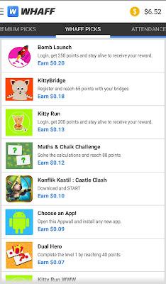 Cara Menghasilkan Uang Melalui Android dengan whaff rewards