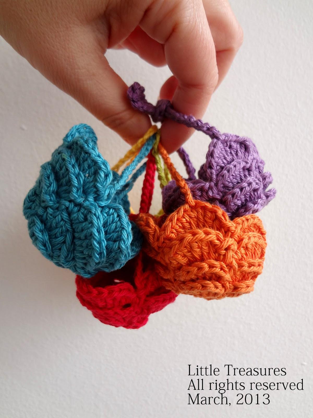 Crochet Egg Basket : Little Treasures: Easter Egg Crochet Basket - PDF Pattern