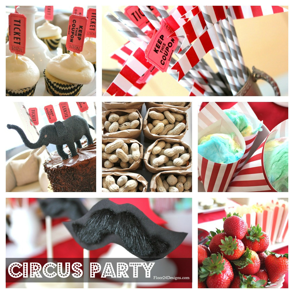 Jojo herda parties adult circus theme - Carnival party menu ...