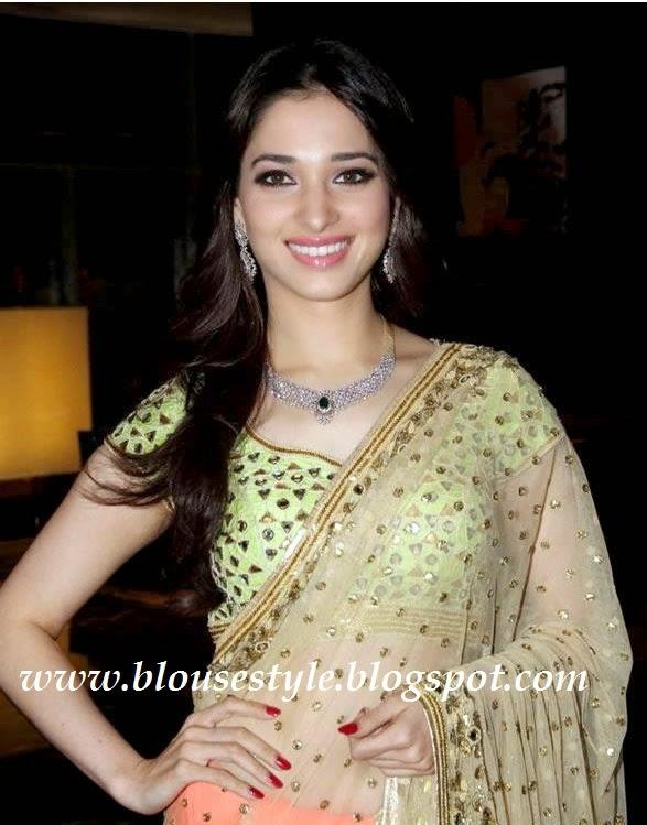 designer saree for tamanna