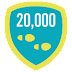 how to UNLOCK Fitbit 20k Step Day foursquare badge