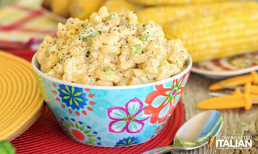 http://www.theslowroasteditalian.com/2014/06/southern-style-macaroni-salad-recipe.html