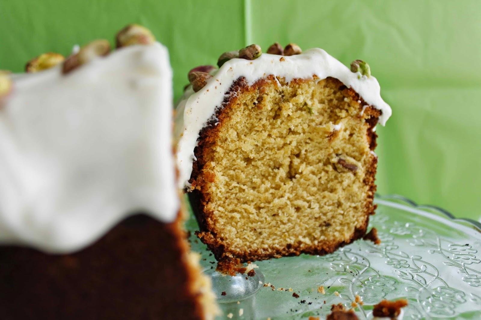 Receta Pound cake de pistachos