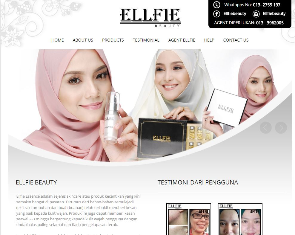 WEBSITE ELLFIE BEAUTY