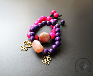 afrcian wood beaded adinkra bracelets