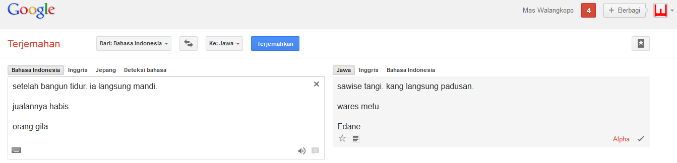 home google translate terjemahan bahasa sunda terjemahan bahasa jawa
