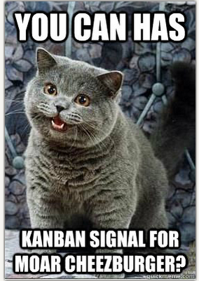 happy cat cheezburger meme kanban signal lean blitz consulting mark graban moar