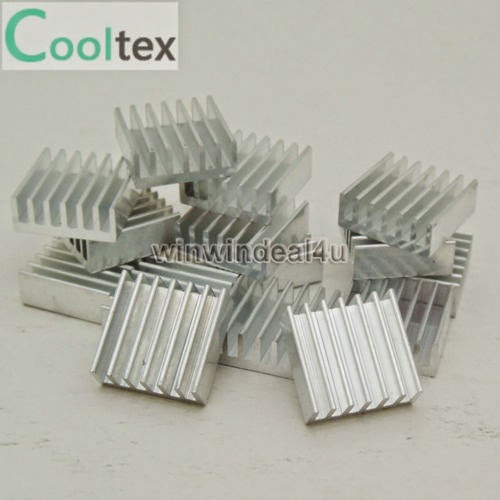 100PC 14x14x6mm High Quality Aluminum Heat Sink For DIY LED Power Memory Chip IC