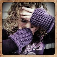Knifty Knitter Fingerless Gloves