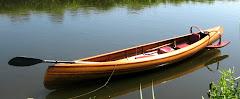 Nieuw type houten kano