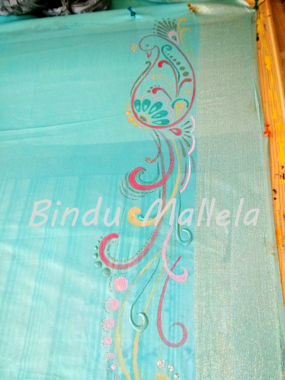 Its A Very Beautiful Sky Blue Georgette Saree With Silver Shimmer Border