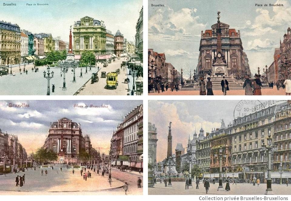 Place de Brouckère du temps où Bruxelles brusselait - Bruxelles-Bruxellons
