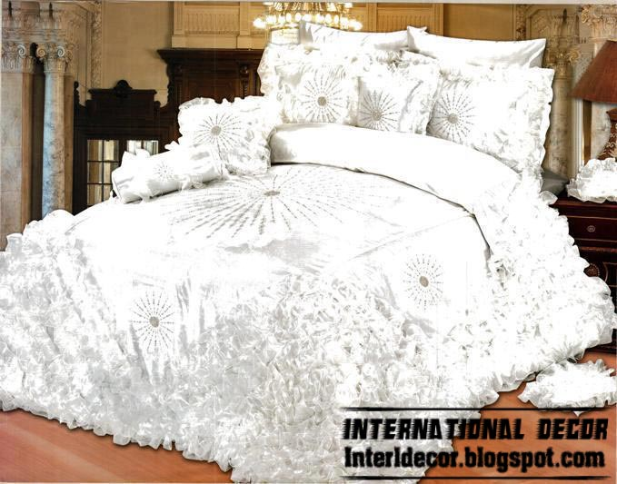Chinese White Bedding Set Model Best Wedding Sets