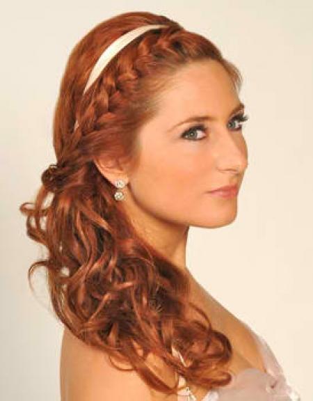 headband braid with curls - photo #16
