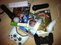 video games and controllers