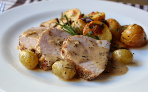 ... How Not to Make Roasted Pork Loin with Grapes and Rosemary Cream Sauce