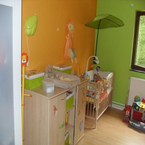 Awesome Chambre Bebe Orange Et Marron Contemporary - Design Trends ...