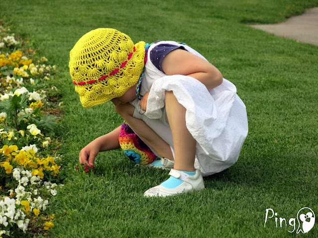 Sunny Gaby - Crochet Hat Pattern by Pingo - The Pink Penguin