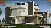 1800 Square Feet Box Type Exterior Home - Kerala