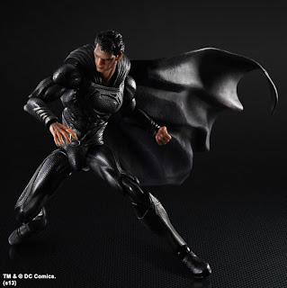 Play Arts Kai NY Comic Con Exclusive Black Suit Superman Man of Steel Figure