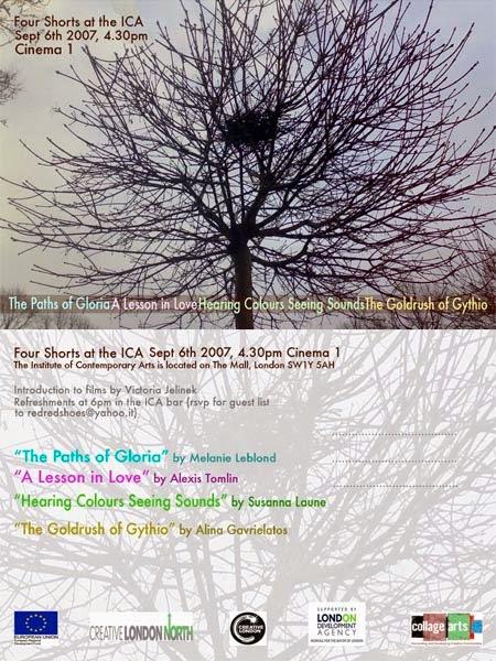 ICA Gallery Invite-Four Short Films Screening