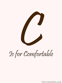C is for Comfortable in the ABC's of Chic Sightings