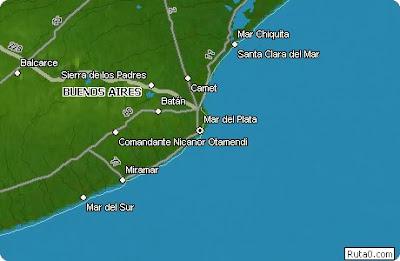 Mar del Plata Mapa Imagen