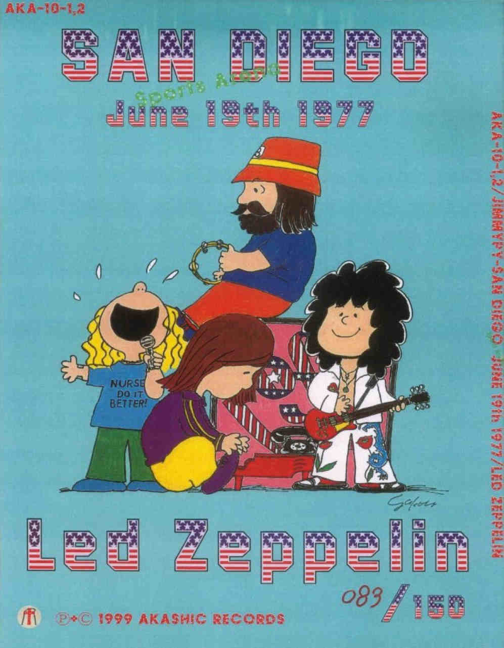 Led Zeppelin: JimmyPy. Sports Arena, San Diego, CA, USA - June 19 ...