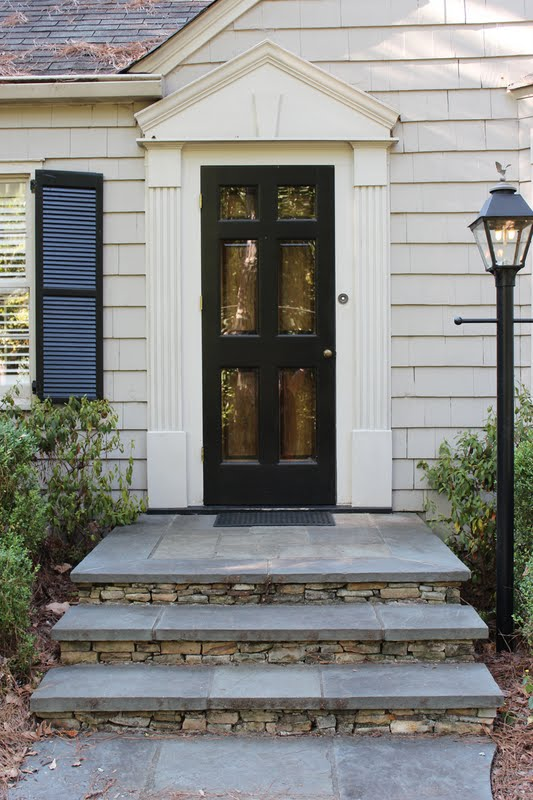 Front stoop makeover calliespondence for Steps to designing a house