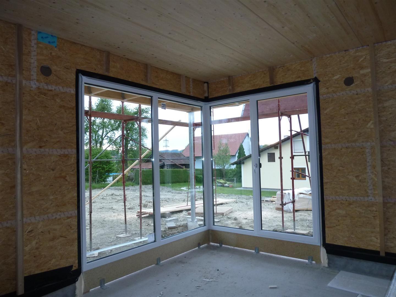 Eckfenster innenansicht  Hausbau - Tina und Manuel: Auf Muttertag folgt Fenstertag