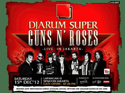 Guns N Roses Akan Konser di Jakarta 15 Desember 2012