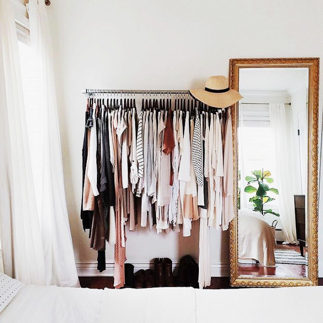 Dreaming in blush on minimalism and decluttering my closet - Small closet space minimalist ...