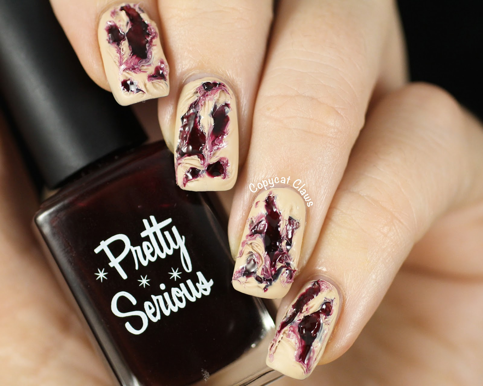 Copycat Claws: Torn Flesh Nail Art and Pretty Serious Love Bite