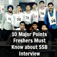 10 Major Points Freshers Must Know about SSB Interview