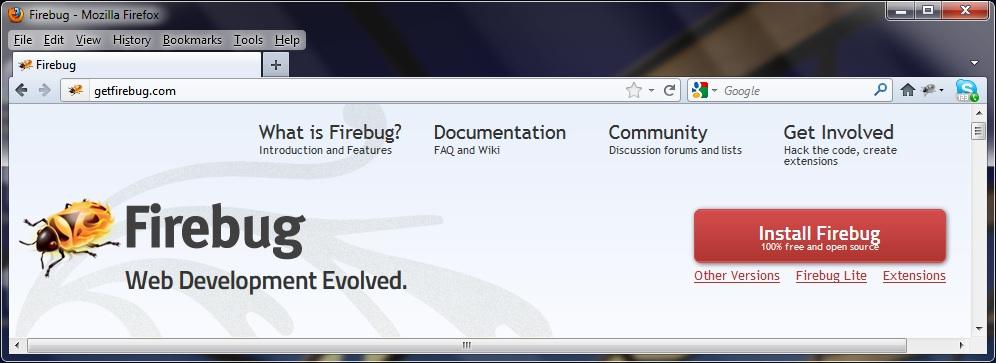 download firebug for chrome