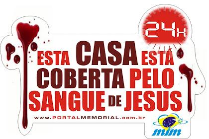 Adquira o  adesivo do Sangue de Jesus para seu carro, sua empresa, sua casa, sua família