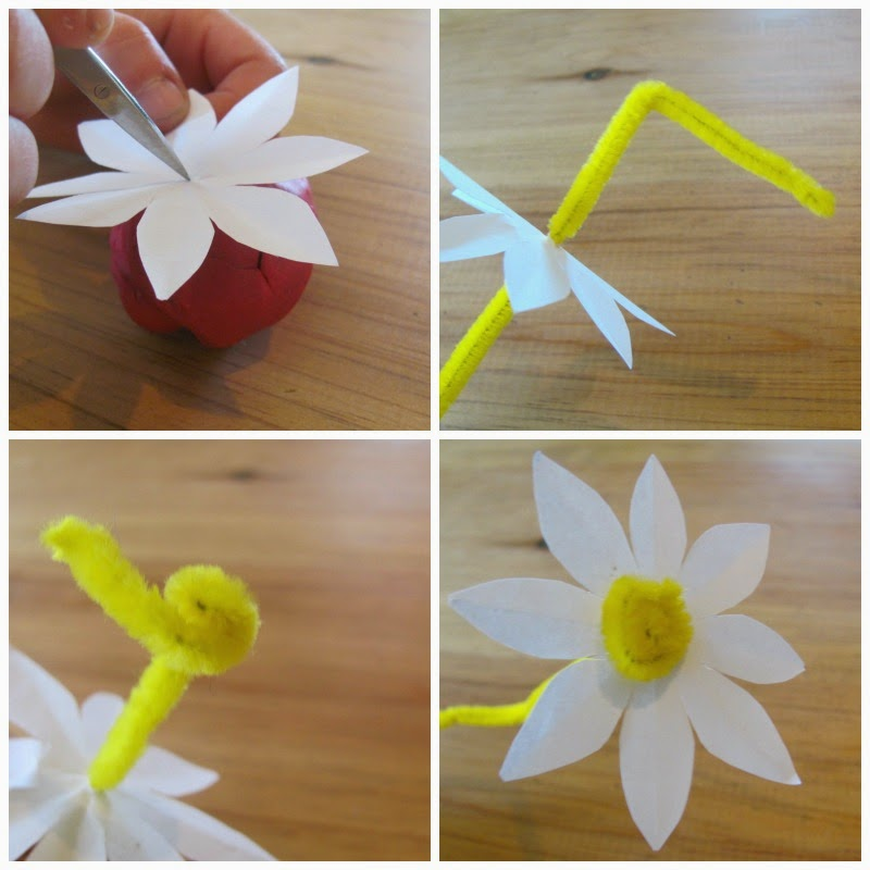 Jumble tree easy paper flowers making some flower bunting or a daisy chain is another fun thing to do with your cut out flowers mightylinksfo