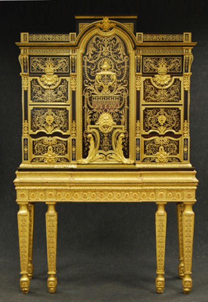Cabinet on stand attributed to Andre-Charles Boulle, c.1700.   Boughton House,  collection of the Duke of Buccleuch and Queensberry.