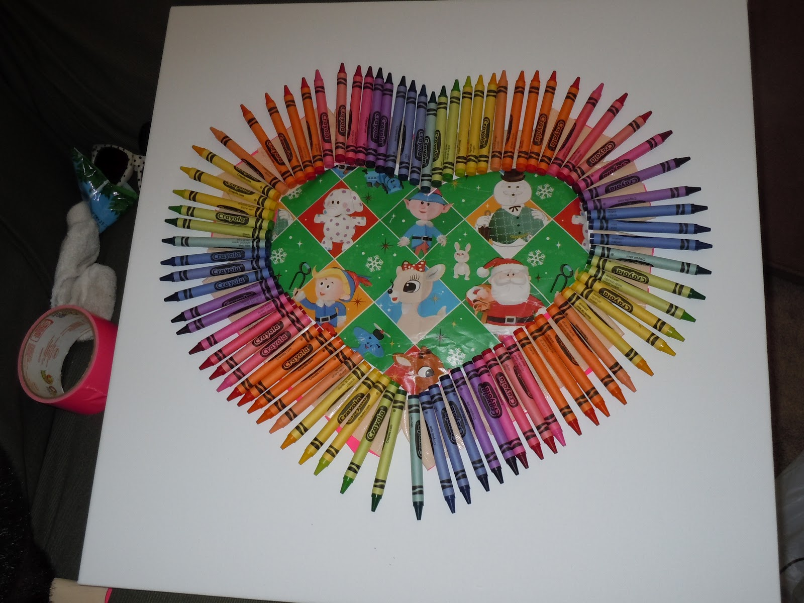 Slowly Melt The Crayons Section By Using Heat Of Your Hairdryer It Took Awhile But I Melted On Low Air