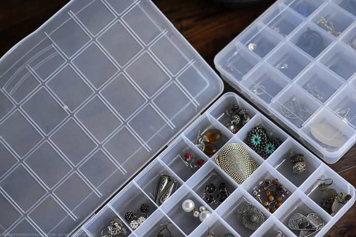 How to Store Organize Jewelry Earrings Acrylic Bead Box with Compartments - Easy Cheap Idea