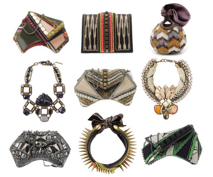 bea valdes clutch bags necklace