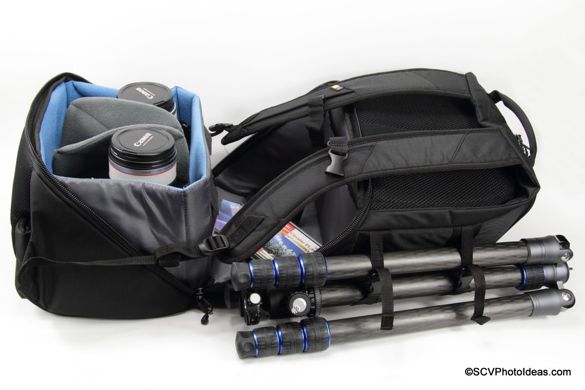 Case Logic DSB-103 opening w/ tripod attached
