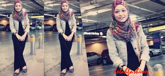 Jilbab Kasual Dengan Dress Feminin Chic