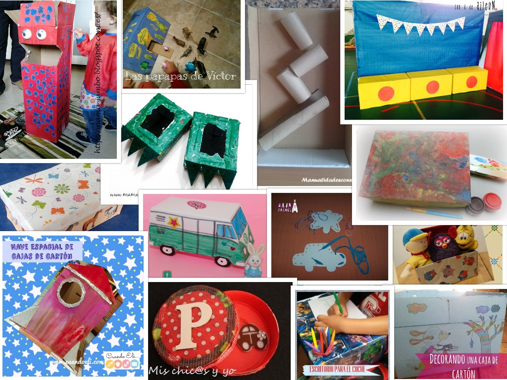 Manualidades con mis hijas recopilaci n de manualidades - Cajas para manualidades ...