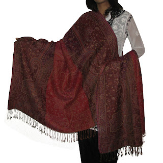 Indian Jamawar Wool Shawls Stoles Wraps
