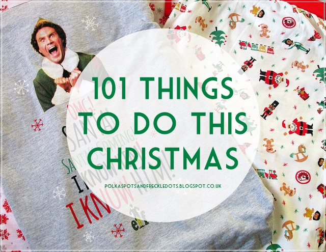 101 Things To Do This Christmas Polka Spots And Freckle Dots