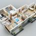 Model Rumah Elegan 1 Lantai oleh 4 Kamar Tidur