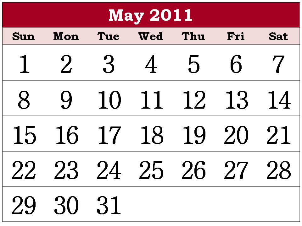 2011 calendar printable may. april and may 2011 calendar